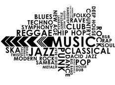 Moderní samolepky MUSIC - vzor 6