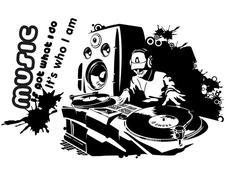 Moderní samolepky MUSIC - vzor 11