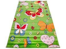 Dětský koberec MOTÝLCI zelení 2