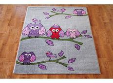 Dětský koberec SOVIČKY - šedý