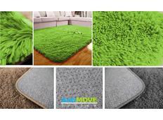 Dětský plyšový koberec ZELENÝ