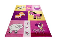 Dětský koberec FARMA růžová 2