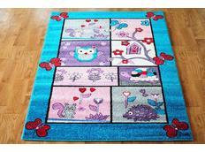 Dětský koberec POHÁDKOVÝ LES - tyrkysový