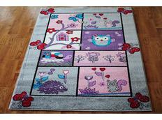 Dětský koberec POHÁDKOVÝ LES - šedý