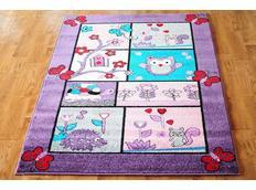 Dětský koberec POHÁDKOVÝ LES - fialový