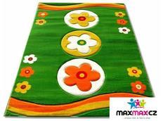 Dětský koberec FLOWER - green