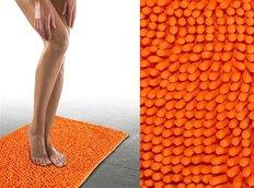 Koupelnová předložka CHENILLE oranžová