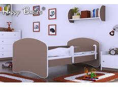 Dětská postel 180x90 cm - HNĚDÁ