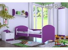 Dětská postel 180x90 cm - TMAVĚ FIALOVÁ