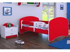 Dětská postel 180x90 cm - ČERVENÁ