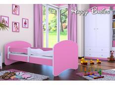 Dětská postel 180x90 cm - RŮŽOVÁ