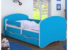 Dětská postel se šuplíkem 160x80 cm - MODRÁ