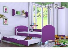 Dětská postel se šuplíkem 140x70 cm - TMAVĚ FIALOVÁ