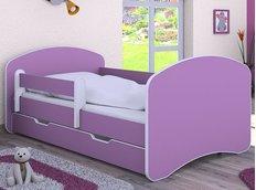Dětská postel se šuplíkem 140x70 cm - FIALOVÁ