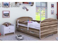 Dětská postel se šuplíkem 140x70 cm - OŘECH BALTIMORE