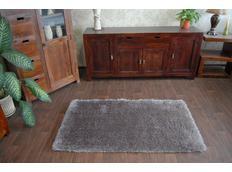 Kusový koberec SHAGGY MACHO stříbrný