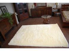 Kusový koberec SHAGGY MACHO krémový