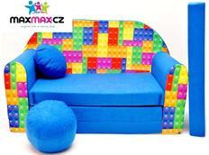 Dětská pohovka LEGO - modrá
