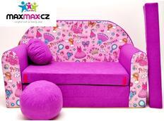 Dětská pohovka PRINCEZNY - fialová
