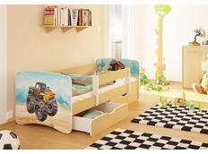 Dětská postel MONSTER TRUCK funny