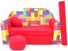 Dětská pohovka LEGO - červená