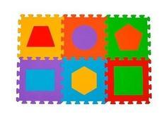 Dětské pěnové puzzle TVARY - 6 ks