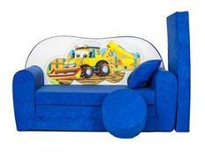 Dětská pohovka BAGR - modrá