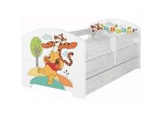 Dětská postel Disney - MEDVÍDEK PÚ A KAMARÁDI 160x80 cm.