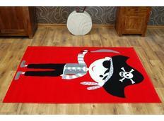 Dětský koberec PIRÁT - červený