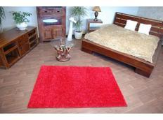 Kusový koberec SHAGGY – bordó