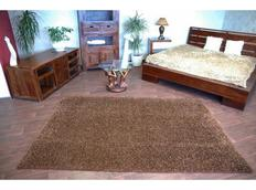 Kusový koberec SHAGGY – hnědý