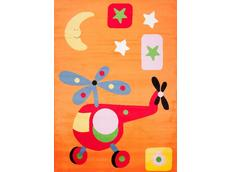 Dětský koberec VRTULNÍK - oranžový