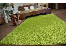 Kusový koberec SHAGGY – zelený