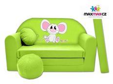 Dětská pohovka MYŠKA - zelená