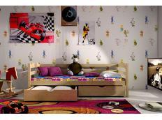 Dětská postel z MASIVU SE ŠUPLÍKY - DP007
