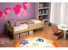 Dětská postel z MASIVU SE ŠUPLÍKY - DP012