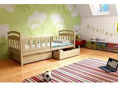 Dětská postel z MASIVU SE ŠUPLÍKY - DP014