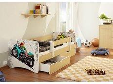 Dětská postel MOTORKÁŘ funny 160x90cm
