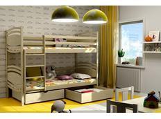 Dětská patrová postel z MASIVU se šuplíky - PP001
