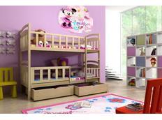 Dětská patrová postel z MASIVU se šuplíky - PP005