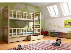 Dětská patrová postel z MASIVU se šuplíky - PP007