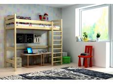 Vyvýšená dětská postel z MASIVU - ZP004