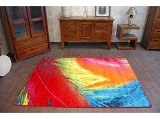 Designový koberec MALBA F474 červený