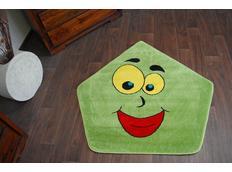 Dětský koberec Zelený hranaťáček 1553