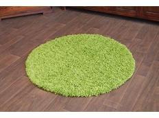 Kulatý koberec SHAGGY GALAXY - zelený