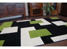 Moderní koberec ČERNO-ZELENÝ 7778
