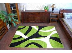 Moderní koberec ČERNO-ZELENÝ 7848