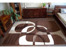 Moderní koberec HNĚDÝ 7507