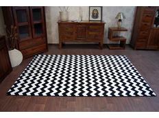 Moderní koberec černo-bílý F561