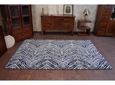 Moderní koberec černo-bílý F754